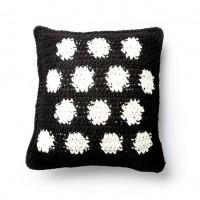 Bernat - Crochet Polka Time Pillow in Blanket (downloadable PDF)