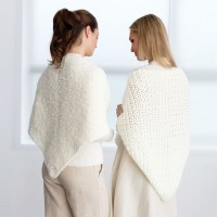 Bernat - Crochet Prayer Shawl in Satin (downloadable PDF)