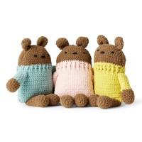 Bernat - Crochet Square Bear in Baby Blanket Tiny (downloadable PDF)