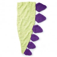 Bernat - Dino Tail Crochet Snuggle Sack in Baby Blanket, and Blanket Brights (downloadable PDF)