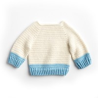 Bernat - Dip Down Crochet Pullover in Softee Baby Cotton (downloadable PDF)