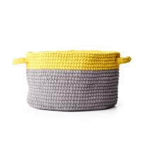 Bernat - Dip Edge Crochet Basket in Blanket (downloadable PDF)