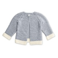 Bernat - Dipped Detail Knitted Cardigan in Softee Baby (downloadable PDF)