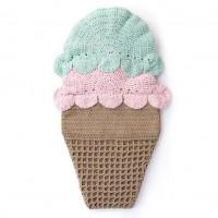 Bernat - Double Scoop Crochet Snuggle Sack in Baby Blanket (downloadable PDF)