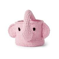 Bernat - Crochet Elephant Basket in Baby Blanket (downloadable PDF)
