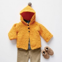 Bernat - Elfin Crochet Cardigan in Baby Blanket Tiny (downloadable PDF)
