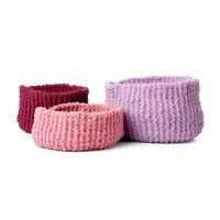 Bernat - Garter Stitch Knit Baskets in Blanket Extra (downloadable PDF)