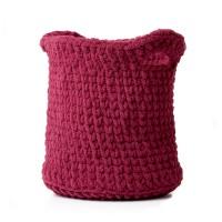 Bernat - Shadow Stitch Crochet Basket in Blanket Extra (downloadable PDF)