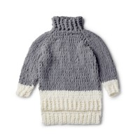 Bernat - EZ Cowl Neck Sweater in Alize Blanket-EZ (downloadable PDF)