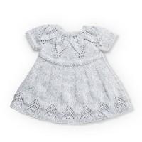 Bernat - Fairy Leaves Knit Dress in Softee Baby (downloadable PDF)