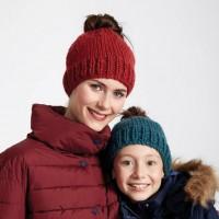 Bernat - Family Fun Messy Bun Hats in Softee Chunky (downloadable PDF)