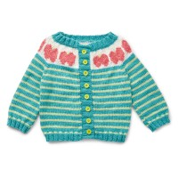 Bernat - Five a Day Cardigan in Softee Baby (downloadable PDF)