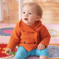 Bernat - Garter Stitch Hooded Jacket in Softee Baby (downloadable PDF)