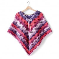 Bernat - Girls Crochet Poncho in Pop! (downloadable PDF)