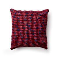 Bernat - Crochet Granite Stitch Floor Cushion in Blanket (downloadable PDF)