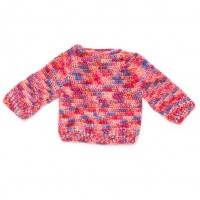 Bernat - Hurry Down Pullover in Softee Baby Colors (downloadable PDF)