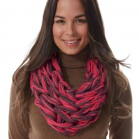 Bernat - I-Cord Arm Knit Cowl in Softee Chunky  (downloadable PDF)