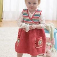Bernat - Jumper Dress in Softee Baby (downloadable PDF)