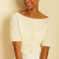 Bernat - Just for Mom Cardigan in Handicrafter Cotton or Satin (downloadable PDF)