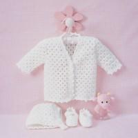 Bernat - Lacy Set to Crochet in Softee Baby (downloadable PDF)