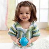 Bernat - Lapel Jacket to Crochet in Softee Baby (downloadable PDF)