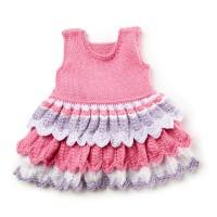 Bernat - Layer Cake Knit Dress in Softee Baby (downloadable PDF)