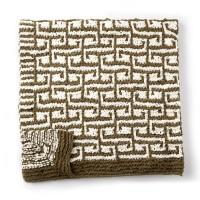 Bernat - Let  It Slip Knit Blanket in Blanket (downloadable PDF)