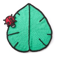 Bernat - Lil' Leaf Crochet Play Mat and Ladybug Toy in Blanket (downloadable PDF)