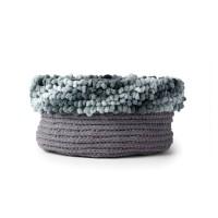 Bernat - Loopy Edge Crochet Basket in Blanket and Alize Banket-EZ (downloadable PDF)