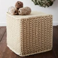 Bernat - Mega Crochet Ottoman in Mega Bulky (downloadable PDF)