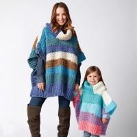 Bernat - Mom and Me Crochet Ponchos in Pop! (downloadable PDF)
