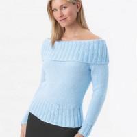 Bernat - Off Shoulder Sweater in Satin (downloadable PDF)