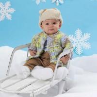 Bernat - One Piece Baby Cardigan in Baby Blanket (downloadable PDF)