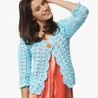 Bernat - On The Lace Cardigan in Satin (downloadable PDF)