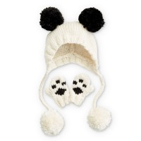 Bernat - Panda-monium Knit Hat and Mitts in Softee Baby Chunky (downloadable PDF)