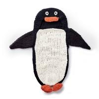 Bernat - Knit Penguin Baby Sack in Blanket (downloadable PDF)