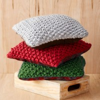 Bernat - Perfect Chirstmas Pillows in Mega Bulky (downloadable PDF)