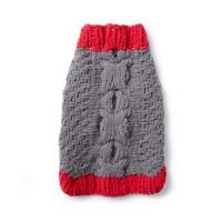 Bernat - Bones and Biscuits Knit Dog Coat in Blanket Pet (downloadable PDF)