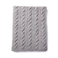 Bernat - Cozy Cables Knit Blanket in Blanket Pet (downloadable PDF)