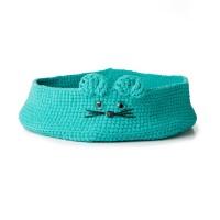 Bernat - Kitten Ears Crochet Pet Bed in Blanket Pet (downloadable PDF)