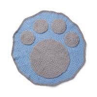 Bernat - Crochet Paw Blanket in Blanket Pet (downloadable PDF)