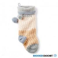 Bernat - Crochet Christmas Stocking in Pop! (downloadable PDF)