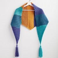 Bernat - Crochet Kerchief Scarf in Pop! (downloadable PDF)