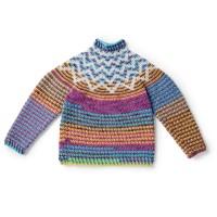 Bernat - Crochet Zig Zag Sweater in Pop! (downloadable PDF)