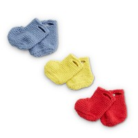 Bernat - Rainy Days Crochet Booties in Baby Blanket Tiny (downloadable PDF)