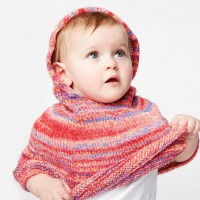 Bernat - Reach for the Rainbow Knit Poncho in Softee Baby (downloadable PDF)
