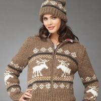 Bernat - Reindeer Games Jacket and Hat in Roving (downloadable PDF)