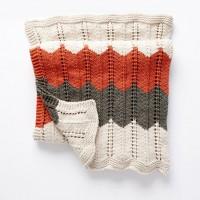 Bernat - Ripple and Ridge Knit Blanket in Beyond  (downloadable PDF)