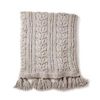 Bernat - Rose Leaf Knit Blanket in Blanket  (downloadable PDF)