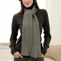 Bernat - Cable Scarf in Satin (downloadable PDF)